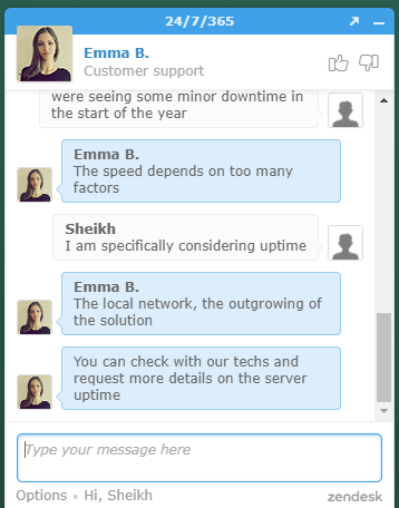 FastComet Live Chat Popup